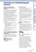 Sony DSC-W370 - DSC-W370 Istruzioni per l'uso Tedesco - Page 3