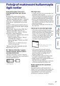 Sony DSC-W370 - DSC-W370 Istruzioni per l'uso Turco - Page 3