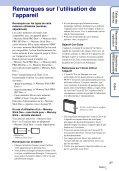 Sony DSC-W320 - DSC-W320 Istruzioni per l'uso Francese - Page 3