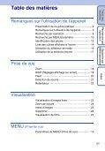 Sony DSC-W320 - DSC-W320 Istruzioni per l'uso Francese - Page 5