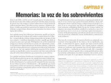 Memorias la voz de los sobrevivientes