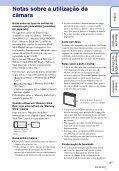 Sony DSC-W320 - DSC-W320 Istruzioni per l'uso Portoghese - Page 3