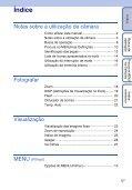Sony DSC-W320 - DSC-W320 Istruzioni per l'uso Portoghese - Page 5