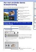 Sony DSC-TX9 - DSC-TX9 Istruzioni per l'uso Svedese - Page 2