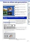 Sony DSC-TX9 - DSC-TX9 Istruzioni per l'uso Spagnolo - Page 2