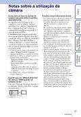 Sony DSC-TX9 - DSC-TX9 Istruzioni per l'uso Portoghese - Page 3