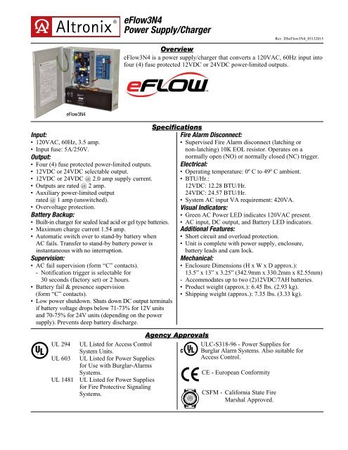 eFlow3N4 Power Supply/Charger