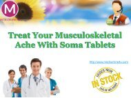 Treat Your Musculoskeletal Ache With Soma Tablets