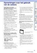 Sony DSC-W320 - DSC-W320 Istruzioni per l'uso Olandese - Page 3