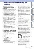 Sony DSC-W320 - DSC-W320 Istruzioni per l'uso Tedesco - Page 3