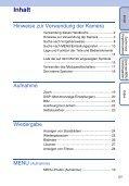 Sony DSC-W320 - DSC-W320 Istruzioni per l'uso Tedesco - Page 5