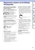 Sony DSC-W190 - DSC-W190 Istruzioni per l'uso Croato - Page 3