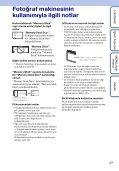 Sony DSC-W190 - DSC-W190 Istruzioni per l'uso Turco - Page 3