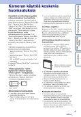 Sony DSC-W320 - DSC-W320 Istruzioni per l'uso Finlandese - Page 3