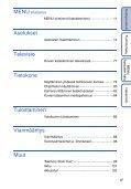 Sony DSC-W320 - DSC-W320 Istruzioni per l'uso Finlandese - Page 6