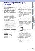 Sony DSC-W370 - DSC-W370 Istruzioni per l'uso Danese - Page 3