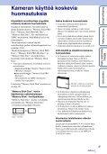 Sony DSC-W370 - DSC-W370 Istruzioni per l'uso Finlandese - Page 3
