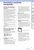 Sony DSC-W320 - DSC-W320 Istruzioni per l'uso Ceco - Page 3