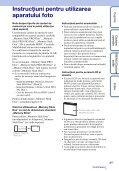 Sony DSC-W370 - DSC-W370 Istruzioni per l'uso Rumeno - Page 3