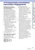 Sony DSC-TX9 - DSC-TX9 Istruzioni per l'uso Ungherese - Page 3