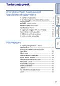 Sony DSC-TX9 - DSC-TX9 Istruzioni per l'uso Ungherese - Page 5