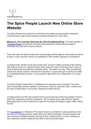 The Spice People Launch New Online Store Website
