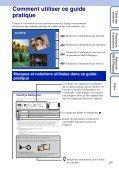 Sony DSC-TX9 - DSC-TX9 Istruzioni per l'uso Francese - Page 2