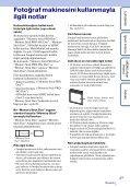Sony DSC-W320 - DSC-W320 Istruzioni per l'uso Turco - Page 3