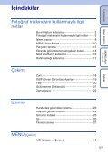 Sony DSC-W320 - DSC-W320 Istruzioni per l'uso Turco - Page 5