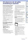 Sony DSC-W320 - DSC-W320 Istruzioni per l'uso Svedese - Page 3
