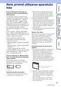 Sony DSC-W320 - DSC-W320 Istruzioni per l'uso Rumeno - Page 3