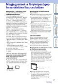 Sony DSC-W320 - DSC-W320 Istruzioni per l'uso Ungherese - Page 3