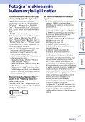 Sony DSC-TX9 - DSC-TX9 Istruzioni per l'uso Turco - Page 3