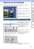 Sony DSC-TX9 - DSC-TX9 Istruzioni per l'uso Olandese - Page 2
