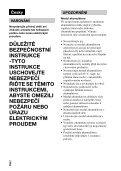 Sony DSC-RX1R - DSC-RX1R Istruzioni per l'uso Ceco - Page 2