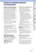 Sony DSC-HX5 - DSC-HX5 Istruzioni per l'uso Finlandese - Page 3