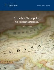 Changing China policy