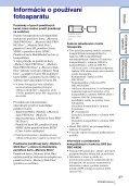 Sony DSC-HX5 - DSC-HX5 Istruzioni per l'uso Slovacco - Page 3