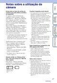 Sony DSC-HX5 - DSC-HX5 Istruzioni per l'uso Portoghese - Page 3