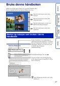 Sony DSC-TX5 - DSC-TX5 Istruzioni per l'uso Norvegese - Page 2