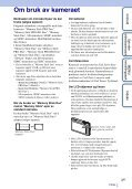 Sony DSC-TX5 - DSC-TX5 Istruzioni per l'uso Norvegese - Page 3