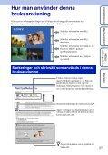 Sony DSC-TX5 - DSC-TX5 Istruzioni per l'uso Svedese - Page 2