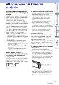 Sony DSC-TX5 - DSC-TX5 Istruzioni per l'uso Svedese - Page 3
