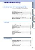 Sony DSC-TX5 - DSC-TX5 Istruzioni per l'uso Svedese - Page 5