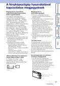 Sony DSC-TX5 - DSC-TX5 Istruzioni per l'uso Ungherese - Page 3
