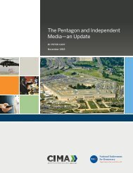 The Pentagon and Independent Media—an Update