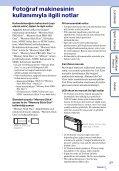 Sony DSC-TX5 - DSC-TX5 Istruzioni per l'uso Turco - Page 3
