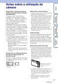 Sony DSC-TX5 - DSC-TX5 Istruzioni per l'uso Portoghese - Page 3