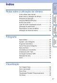 Sony DSC-TX5 - DSC-TX5 Istruzioni per l'uso Portoghese - Page 5