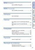 Sony DSC-TX5 - DSC-TX5 Istruzioni per l'uso Portoghese - Page 6